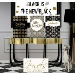 Black is the New Black! - With gold tones to turn art into LUXE.